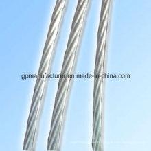 Câble utilisé Fil d'acier galvanisé chaud à chaud 7 fils