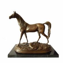 Tier Bronze Skulptur Single Pferd Handwerk Deko Messing Statue Tpal-247