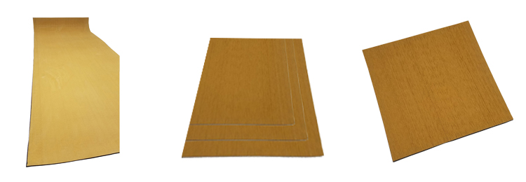 Decking Faux Teak Flooring Sheet For Yacht