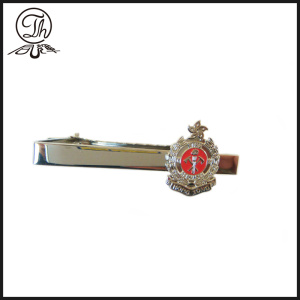 Fire Police metal tie clasp