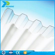 Hoja de policarbonato ondulado pvc