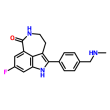 283173-50-2 Rucaparib;8-fluoro-2-(4-((methylamino)methyl)phenyl)-4,5-dihydro-1H-azepino[5,4,3-cd]indol-6(3H)-one