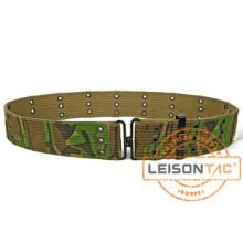 Cinturão de lona de camuflagem tático militar com padrão ISO