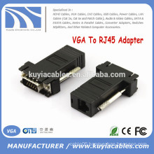 High Quality VGA TO RJ45 Extender VGA Male to LAN CAT5 CAT6 RJ45 Network Cable Female Adapter Connector