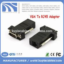 Высококачественный VGA для удлинителя VGA RJ45 для подключения к локальной сети CAT5 CAT6 RJ45 Сетевой кабель Женский разъем адаптера