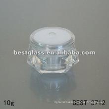 diamond cosmetic jar