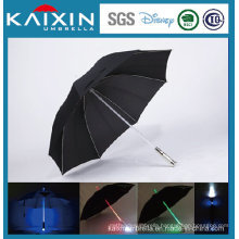 LED Handle Shaft Golf Umbrella Straight Handle