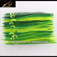 Fábrica suave del señuelo de los cebos de pesca de la falda SLL050