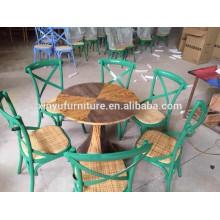 Modern restaurant rattan chair and table set XYN1010
