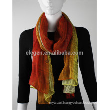 In Stock Polyester Gradient Color Printed Scarf