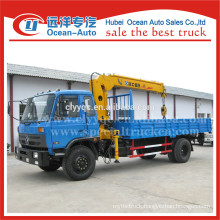Dongfeng 4x2 6.3 ton straight boom crane truck mounted crane