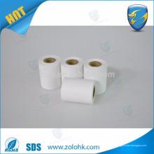 Papel térmico fábrica 87mm * 35mm 80gsm liberación de revestimiento en blanco roll papel térmico directo para pos y caja registradora