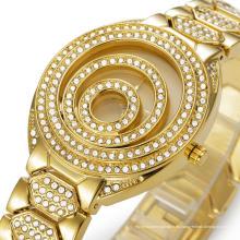 Relojes de pulsera de oro de lujo 2016 de las mujeres