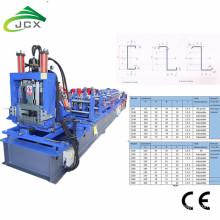Auto-CZ-Purlin-auswechselbare Rolle, die Maschine bildet