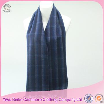 2017 venta caliente azul raya de lana chal