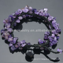 Bracelet en cristal de quartz Améthyste naturel pour femmes SB-0252