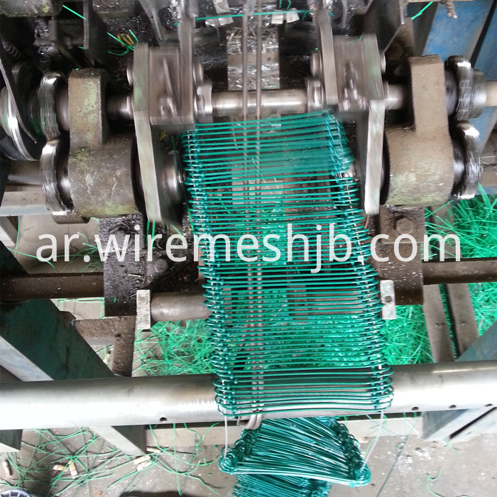 PVC coated double loops wire machine