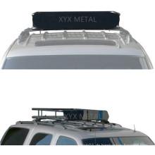 Schwarzes Stahldachzelt-Zelt-Dachkorb für Gepäck
