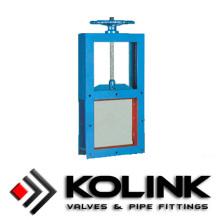 Квадратный гильотинные (слайд ворота клапан)