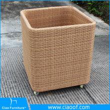 Factory Direct Sale 100% handmade Plastic Rattan Towel Basket