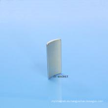 Imán permanente Ts16949 del neodimio de Spelk NdFeB del arco de alta calidad 35sh