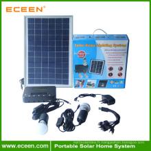 Système d'éclairage à lumière solaire portable à usage domestique