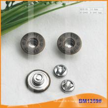 Bouton en métal, boutons personnalisés Jean BM1359