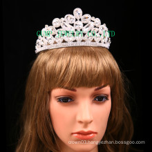 Factory Direct Rhinestone Tiara Clear Stone Crown For Bridal