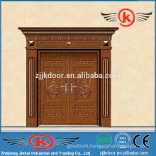 JK-C9046 high standard copper door panel double leaf swing door