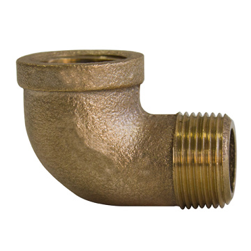 Coude 90 ° fileté bronze bronze coulé