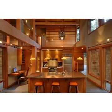 A casa de madeira inteira com cedro vermelho ocidental Wood.