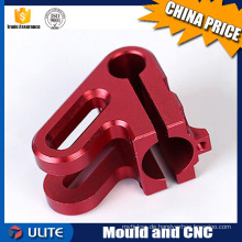 Kundenspezifische CNC-Fräserei Aluminium-Maschinenteile mit Farbe eloxiert