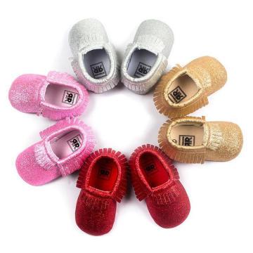 4 colores infantiles niño Prewalker moda borlas bebés niñas zapatos