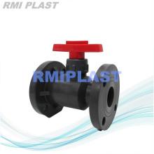 CPVC Plástico Válvula de bola Brida Final PN10