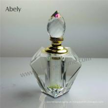 Frascos de óleo de perfume claro de garrafas de vidro cosméticos