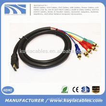 1.5M/5FT HDMI TO 5RCA RGB Cable Black