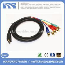 1.5M / 5FT HDMI для 5RCA RGB-кабеля Черный