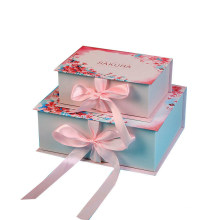 Factory Custom Paperboard Luxury Gift Boxes with Ribbon