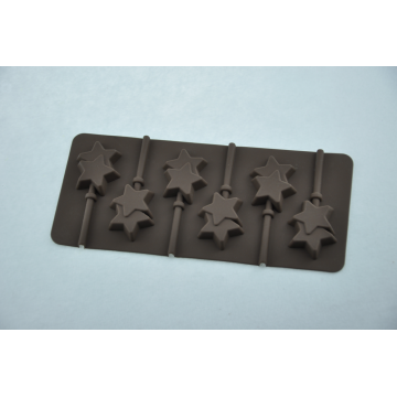 Silicone Mold Star Chocolate lollipop Tray