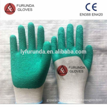 1/2 latex palm coated, 13 gauge seamless knitted hand gloves