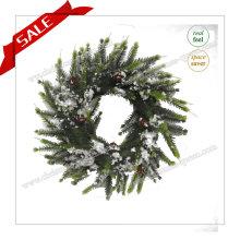 30-48cm Courbe artificielle Couronne décorative en plastique Métal Décoration extérieure de Noël