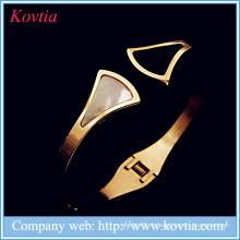 Nouveaux produits modèles en acier inoxydable bijoux coquillages bracelets bracelets