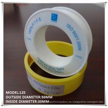 100% de PTFE cinta de sellado de rosca para el envasado de tuberías de gas y tuberías de agua