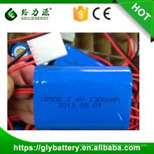 2014 boa qualidade recarregável li-ion bateria 7.4 v 1100 mah