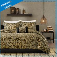 Conjunto de 3 edredones de algodón sintético con estampado de leopardo y estampado de leopardo