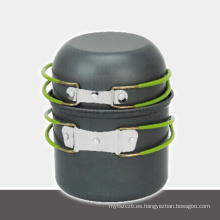 conjunto de ollas al aire libre de aluminio vendedor caliente conjunto de cocina de camping al aire libre