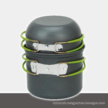 hot selling aluminium outdoor pot set outdoor cookware camping cooking set