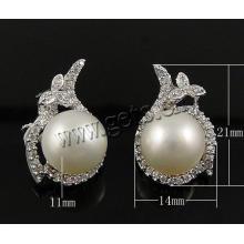 Gets.com 925 pendientes de plata esterlina 1 ct pendientes de diamante