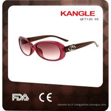 2014 bonne qualité et grandes lunettes de soleil en plastique