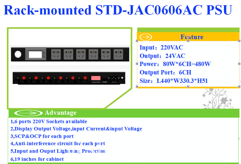 rack mount power supply units